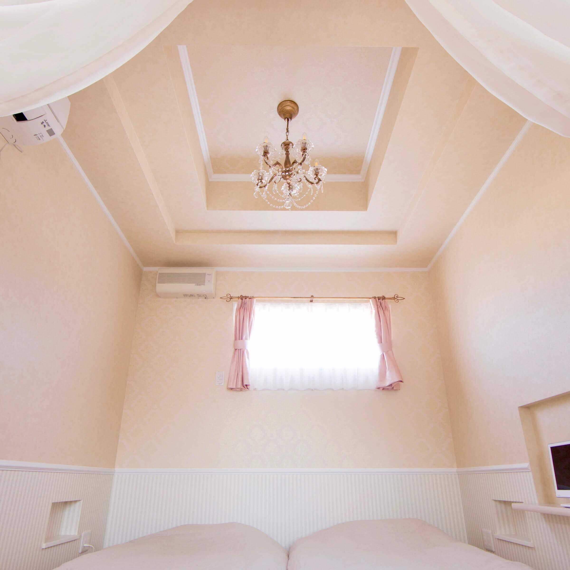 鹿沼市の注文住宅事例 寝室の天井
