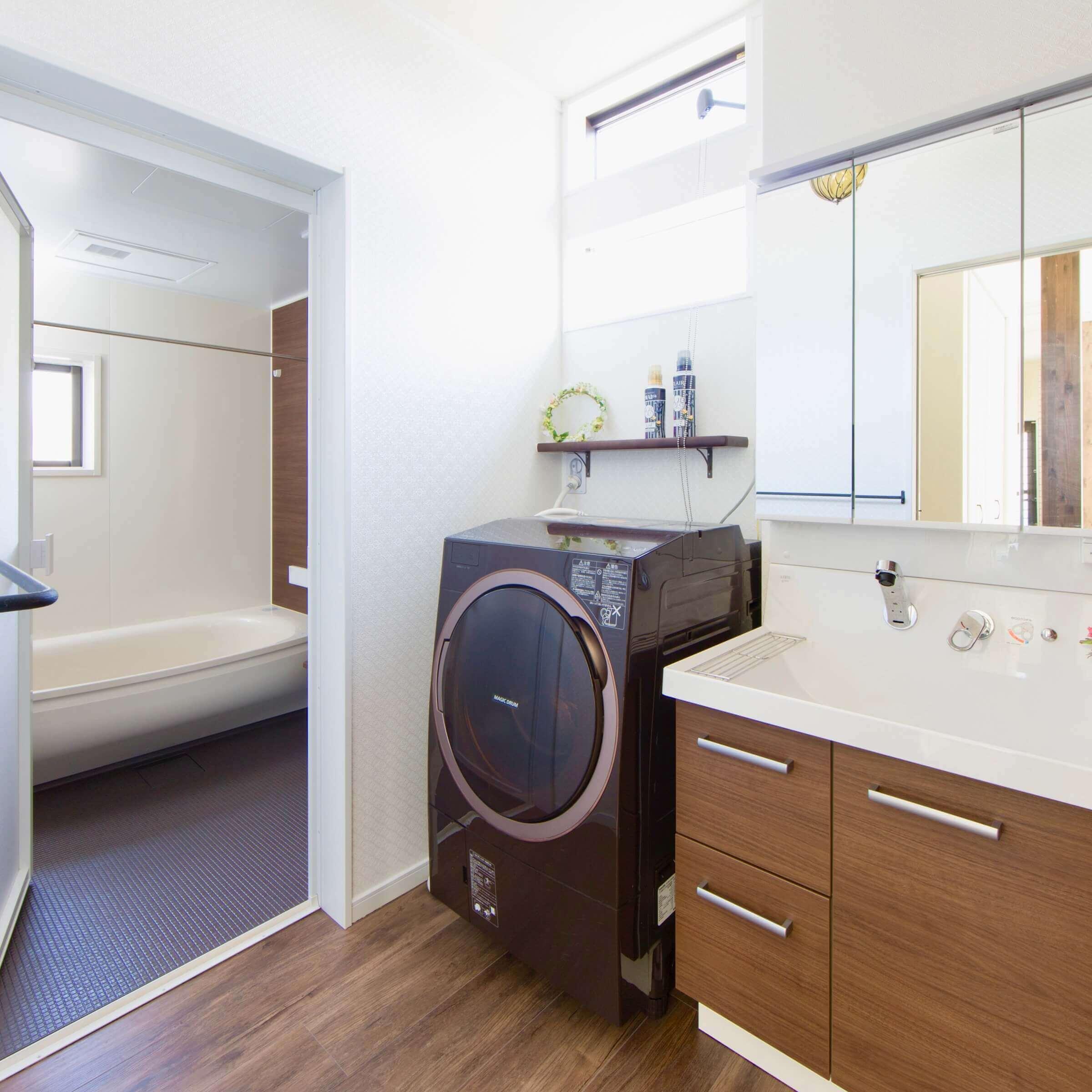 鹿沼市の注文住宅事例 洗面脱衣室