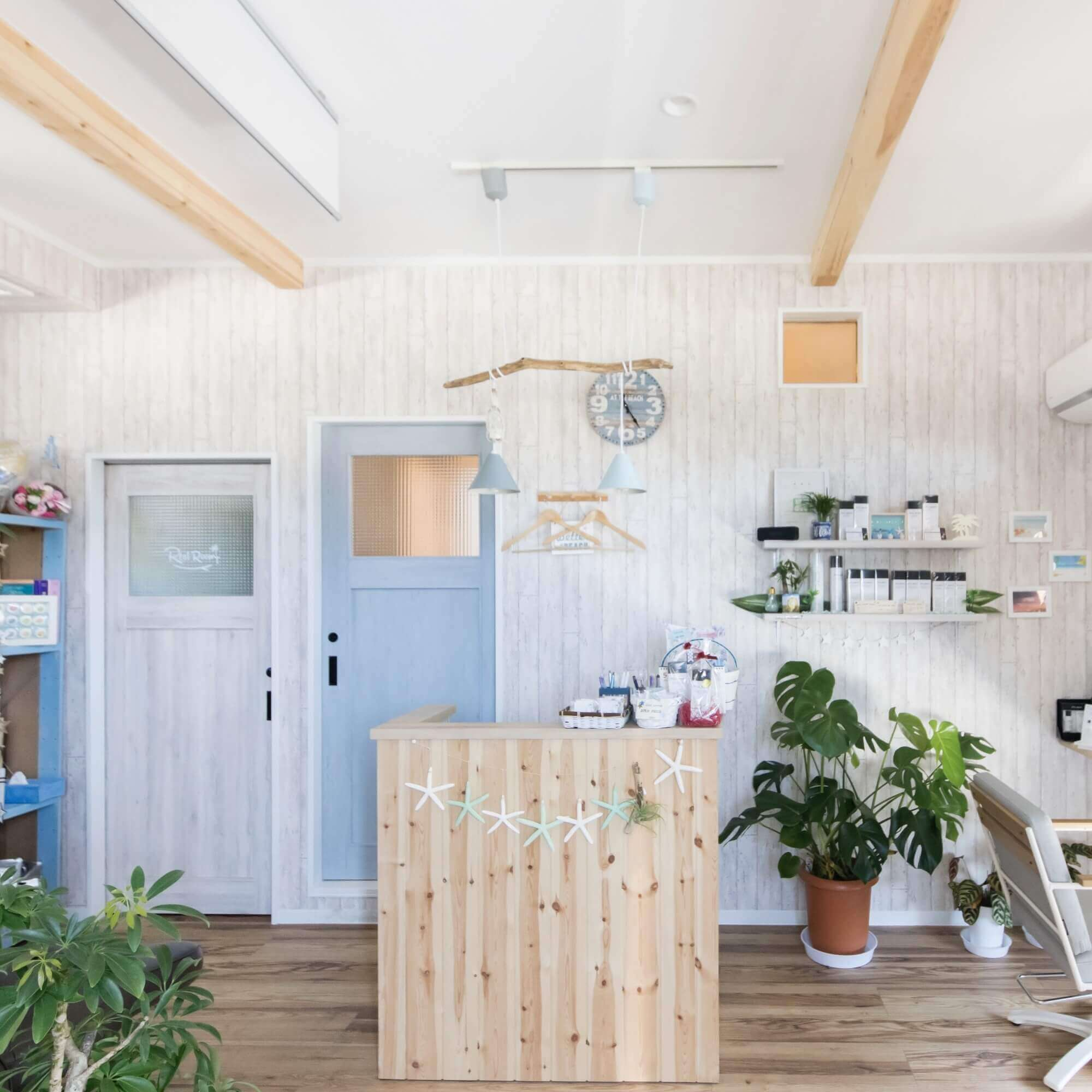 鹿沼市の注文住宅事例 美容室カウンター