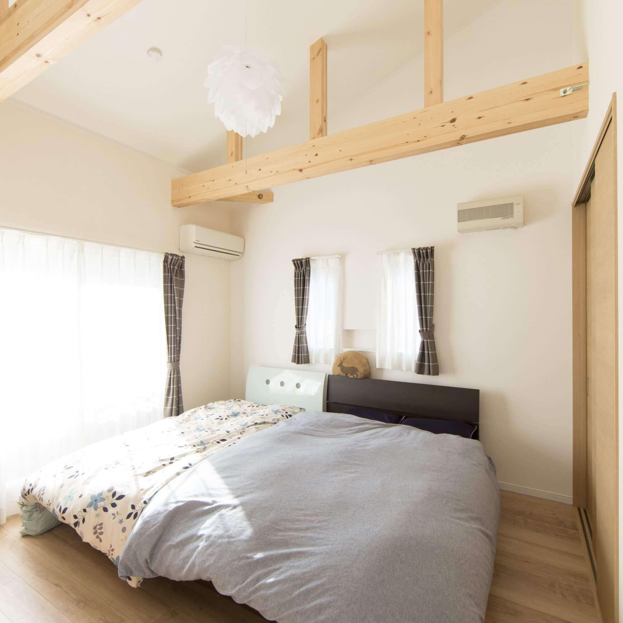 鹿沼市の注文住宅事例 寝室