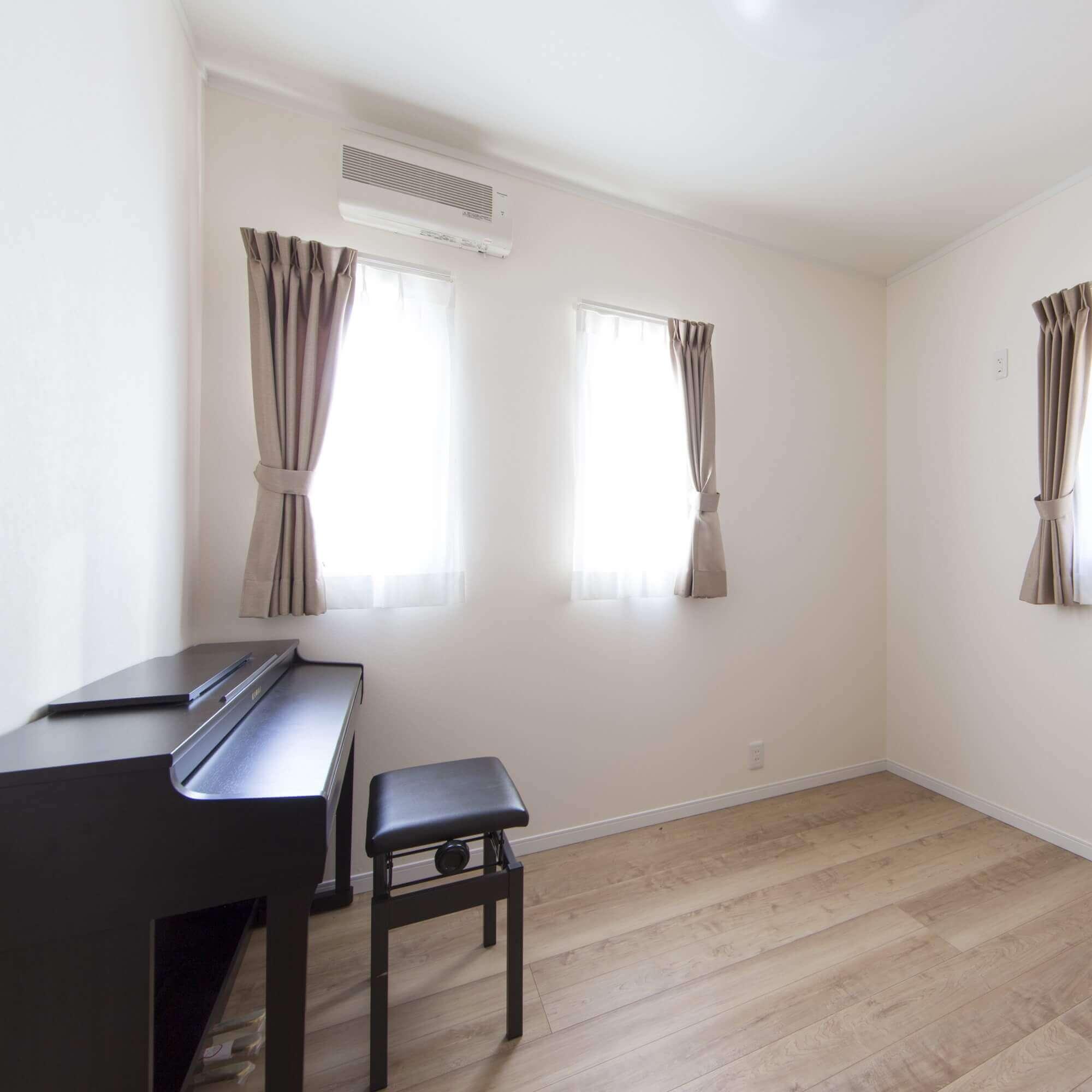 鹿沼市の注文住宅事例 ピアノ部屋