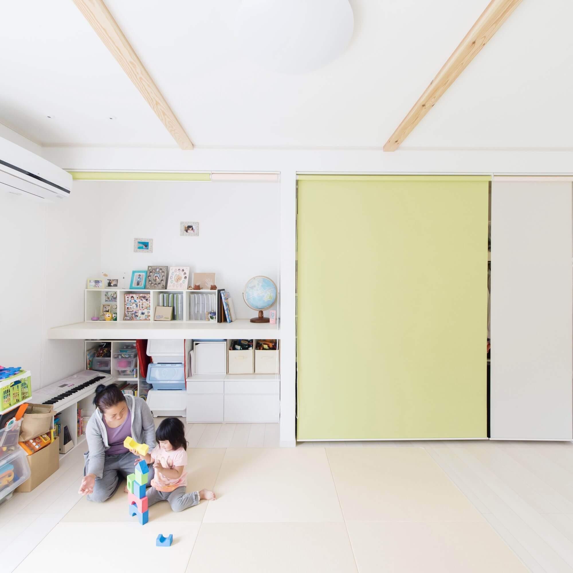 日光市の注文住宅事例 寝室