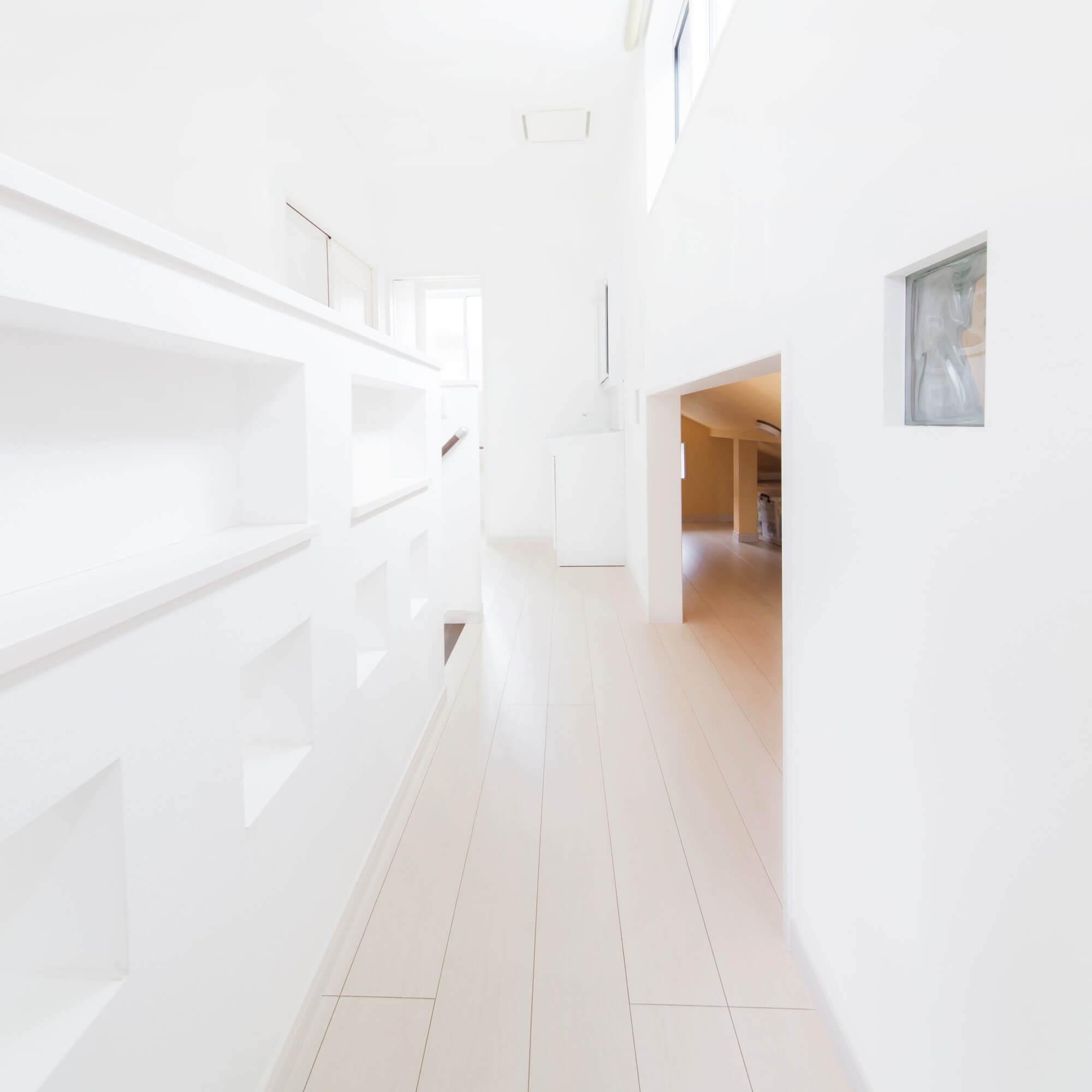 日光市の注文住宅事例 2階廊下