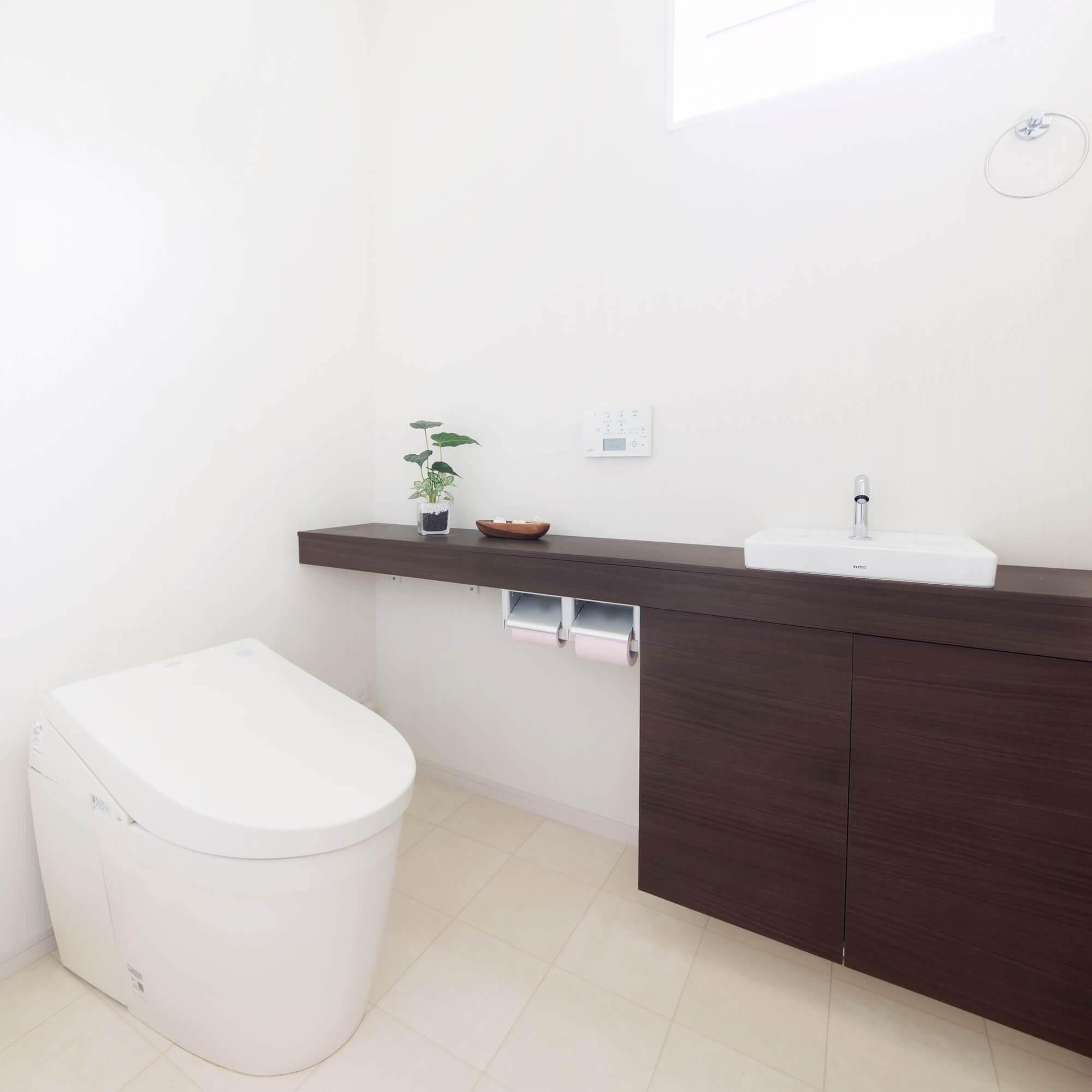 日光市の注文住宅事例 トイレ