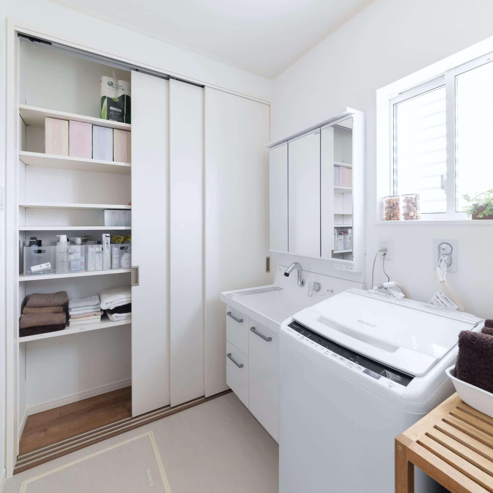 矢板市の注文住宅 洗面脱衣室