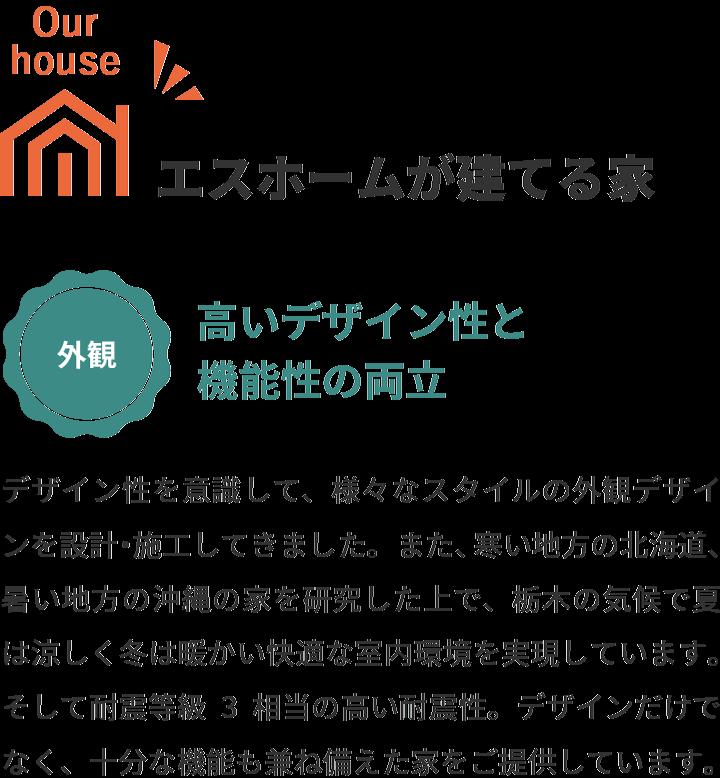 エスホームが建てる家 高いデザイン性と機能性の両立